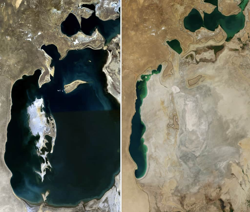The Aral Sea, 1989 to 2014.