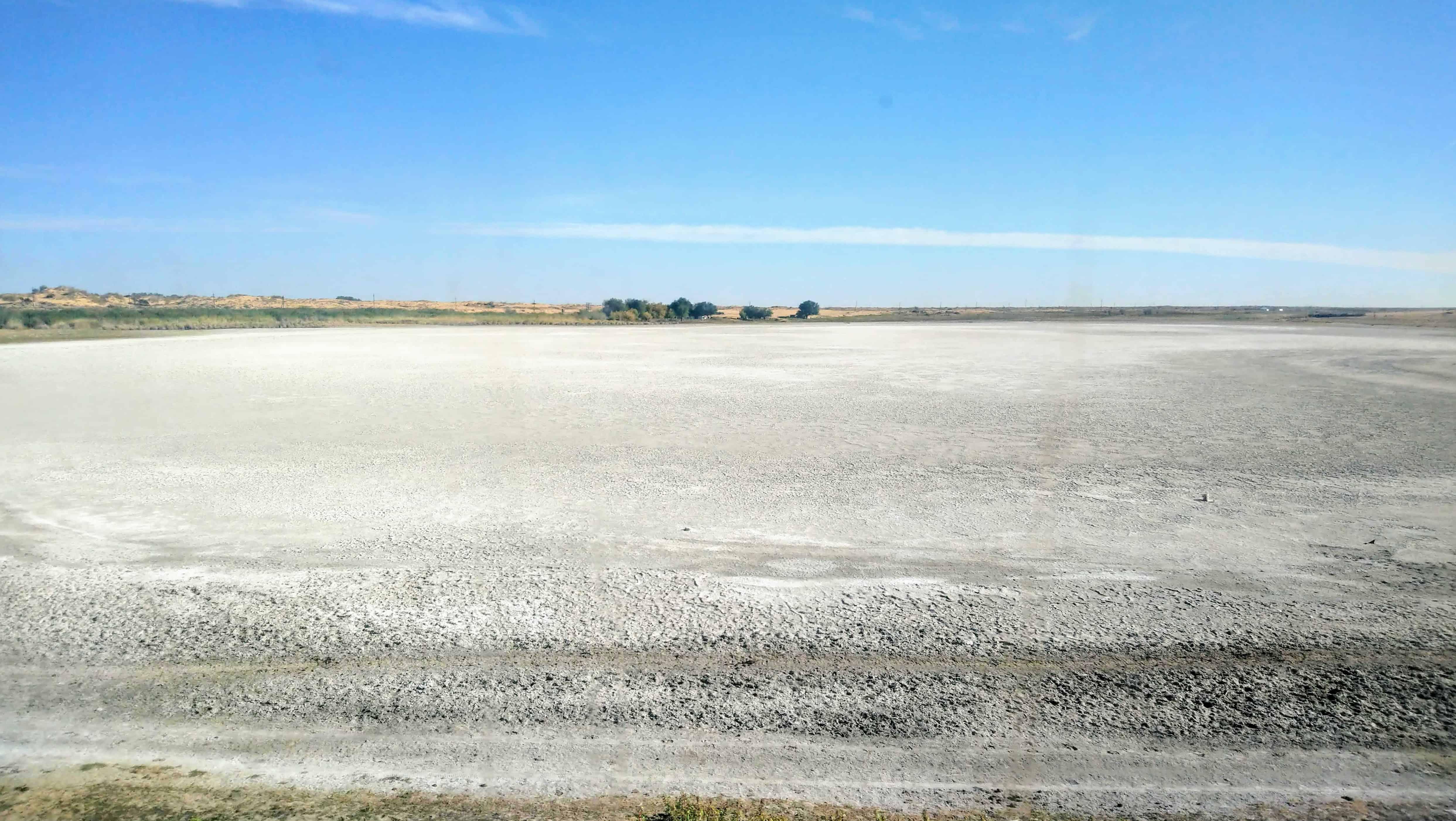 Salty Fields Near Aralsk